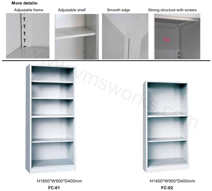 China Factory Supplying None Door Home Bedroom Use Metal Display Bookcase Cabinets Manufacturers,Suppliers,Factory,Wholesale-Henan Vimasun Industry Co.,Ltd.