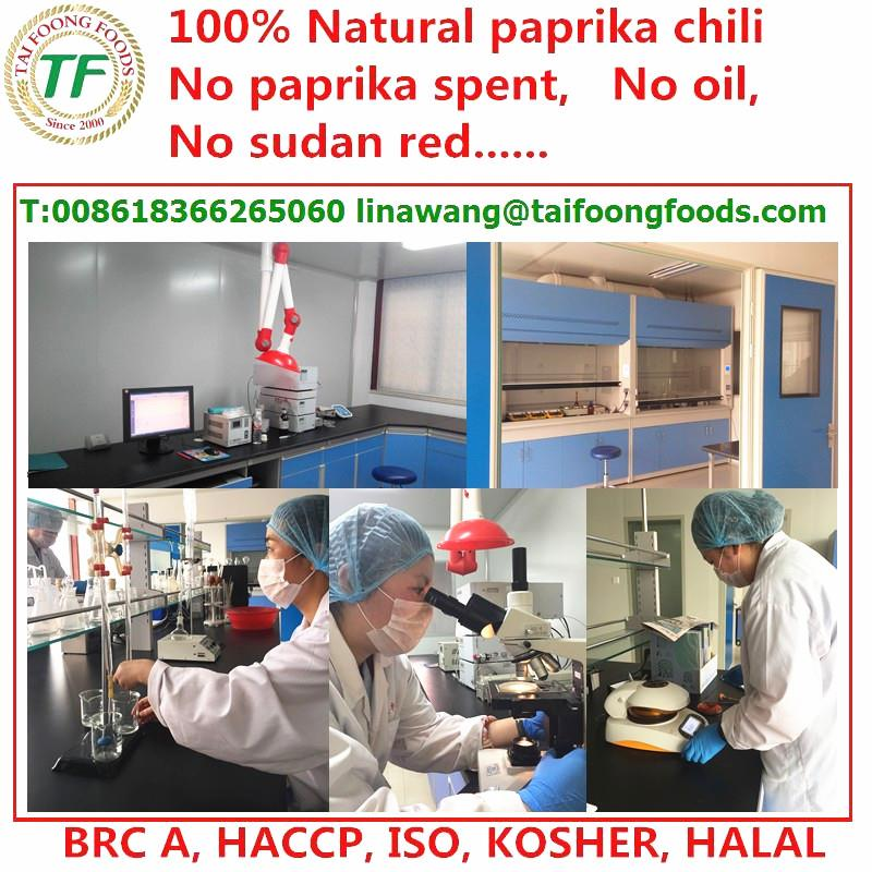taifooong paprika powder laboratory test asta