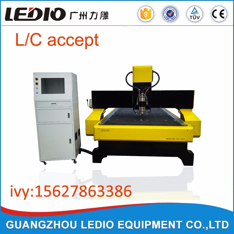 ledio company cnc wood router / 1325 furniture engraving cutting machine / wood carving cnc router in stock