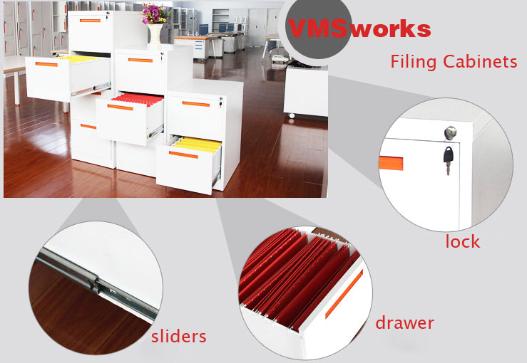 China New Design Customized Handle 2/3/4 Drawer Vertical Office File Cabinet Furniture Manufacturers,Suppliers,Factory,Wholesale-Henan Vimasun Industry Co.,Ltd.