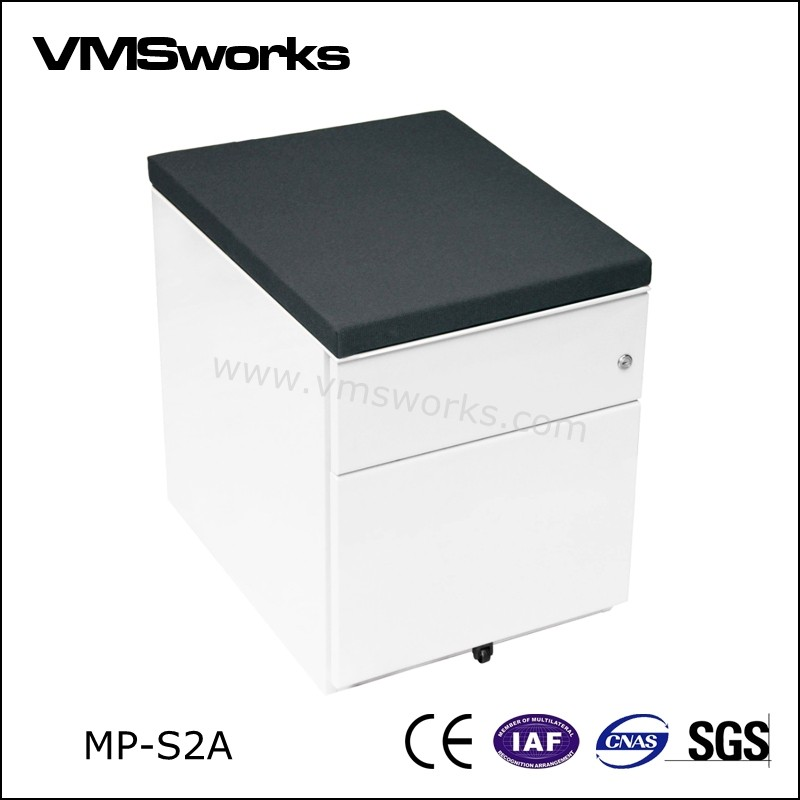 China Customized Dimensions 2 Drawer Mobile Pedestal File Cabinet With Top Cushion  Manufacturers,Suppliers,Factory,Wholesale-Henan Vimasun Industry Co.,Ltd.