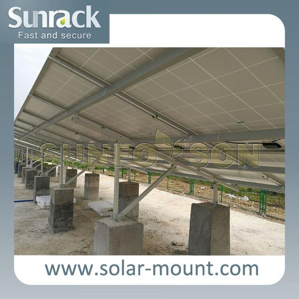 Corrugated tin roof solar panel mounting system