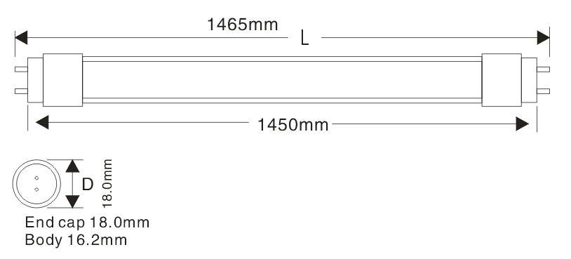 T5 145cm