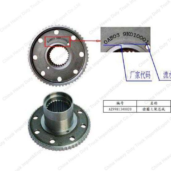 SINOTRUK Camión de engranajes anillo portador (NO.WG9981340020) 317.jpg