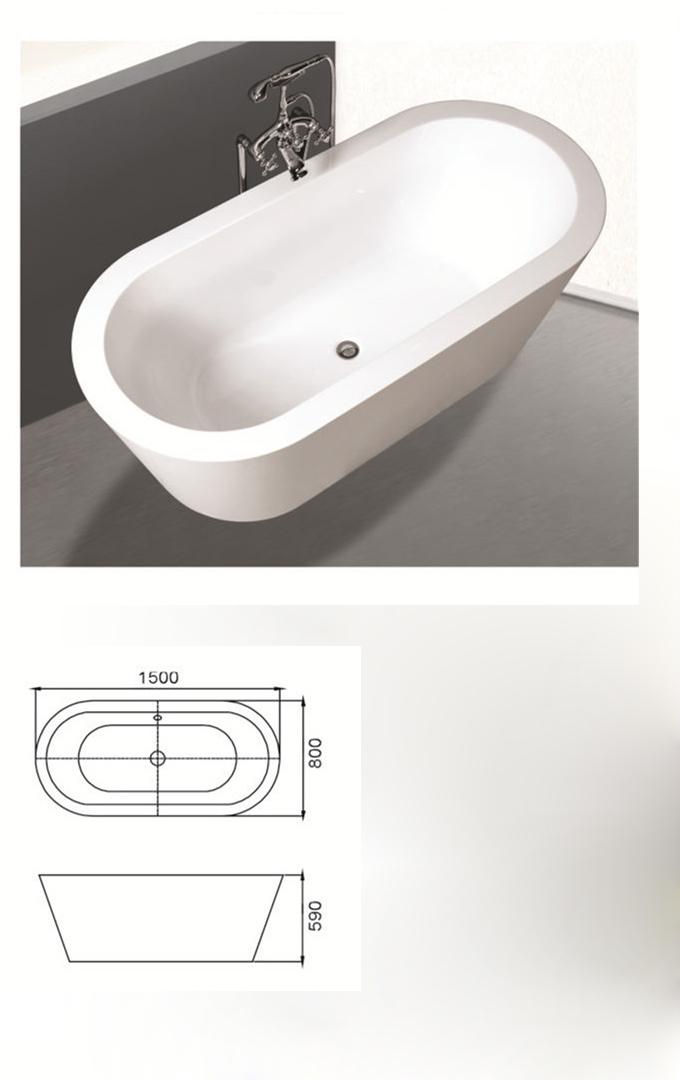 (2) MEC-3072 - Акрилен овален фризерен вана за преливане WChrome Finish.jpg