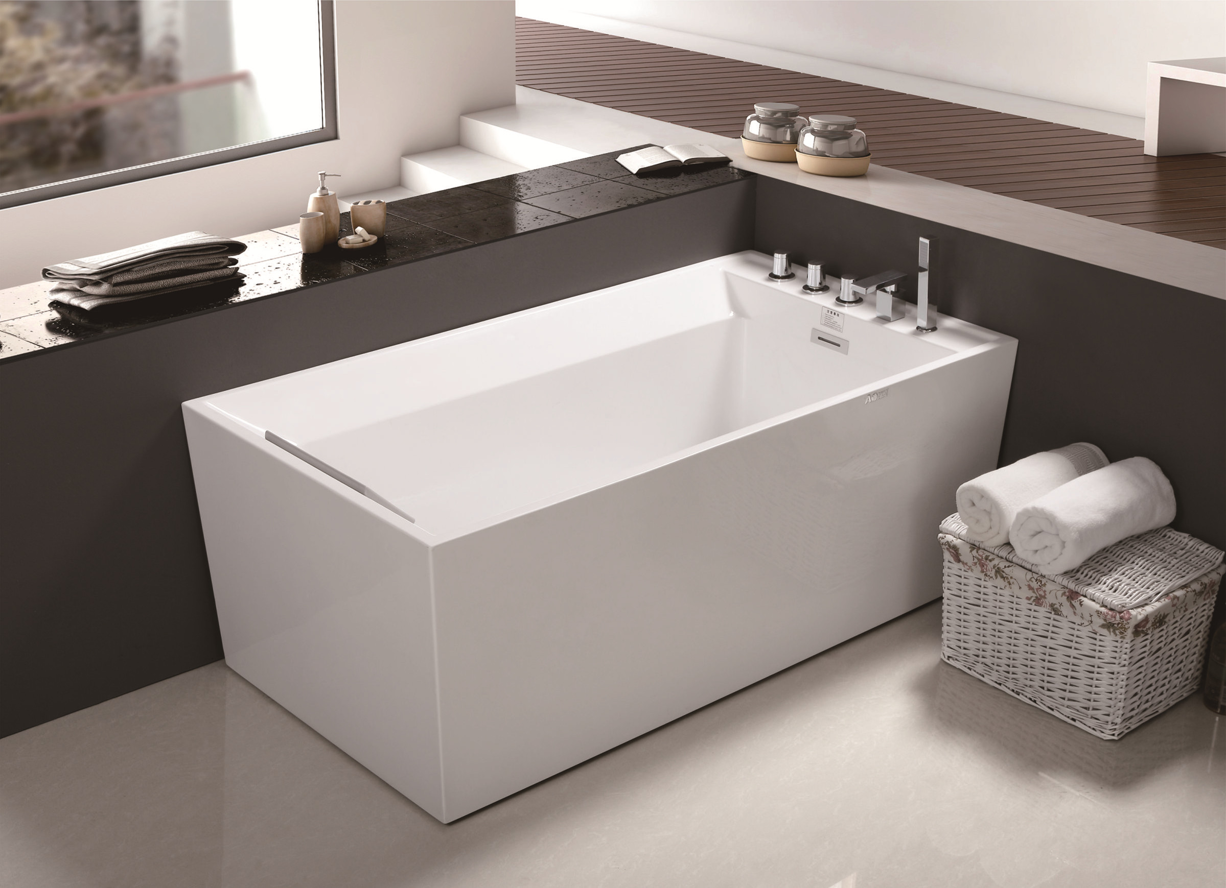 MEC-3111 -Simple Standard Seamless Rectangle Freestanding Acrylic Bathtub.jpg
