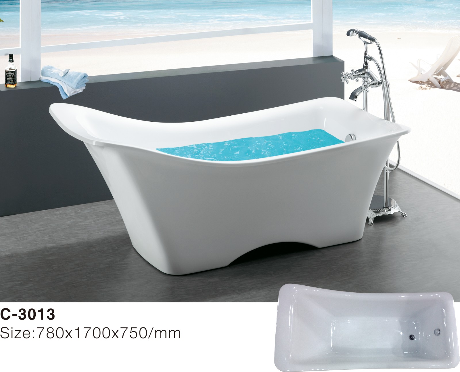 (1) C-3013 -Europe-Style Irregular Shape Acrylic Freestanding Bathtub, White.jpg