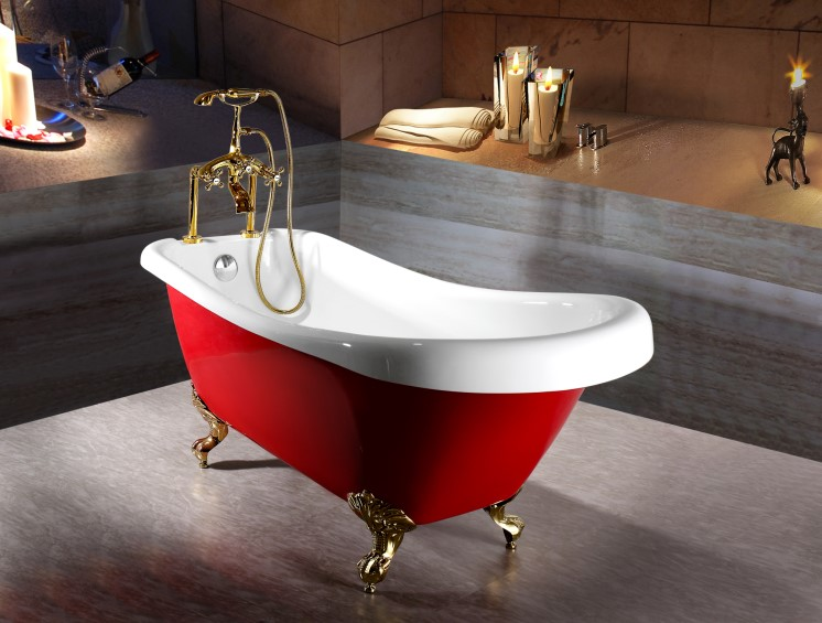 (3) C-3136-2 C-3137-2 -Classical Charming Red European Freestanding Clawfoot  Soaking Bath Tub_副本.jpg