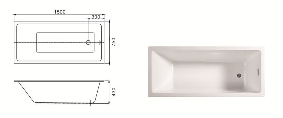 (2)MEC3134-A--Left Drain Acrylic Rectangular Shape Soaking Injection Drop-in Bathtub.jpg