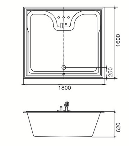(4) MEC3052-Large Size Solid Surface Acrylic Square Drop-in Hot Tub for Two Persons.jpg