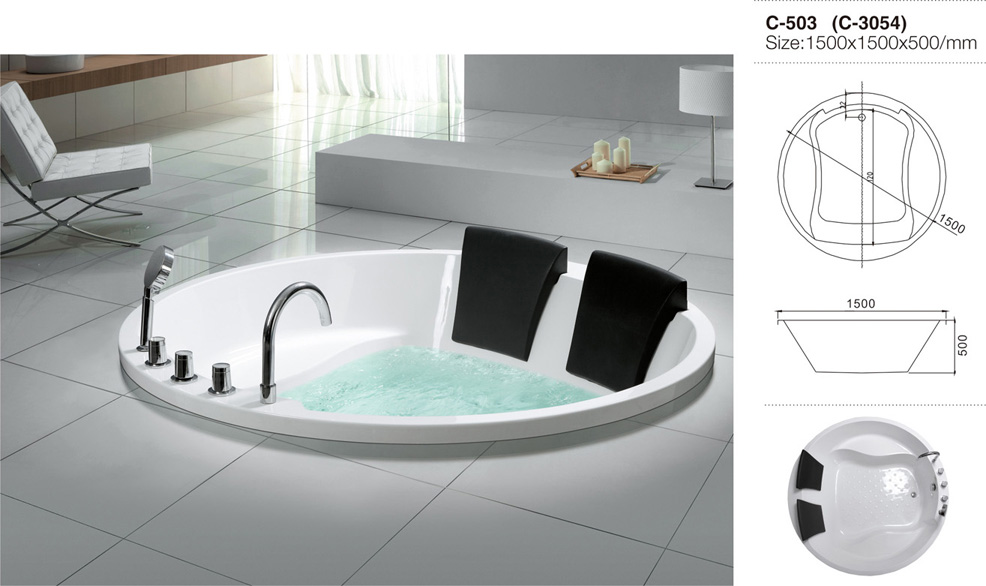 (3)MEC-3054-Two Person Large Size White Acrylic Round Drop-in Soaking Tub.jpg