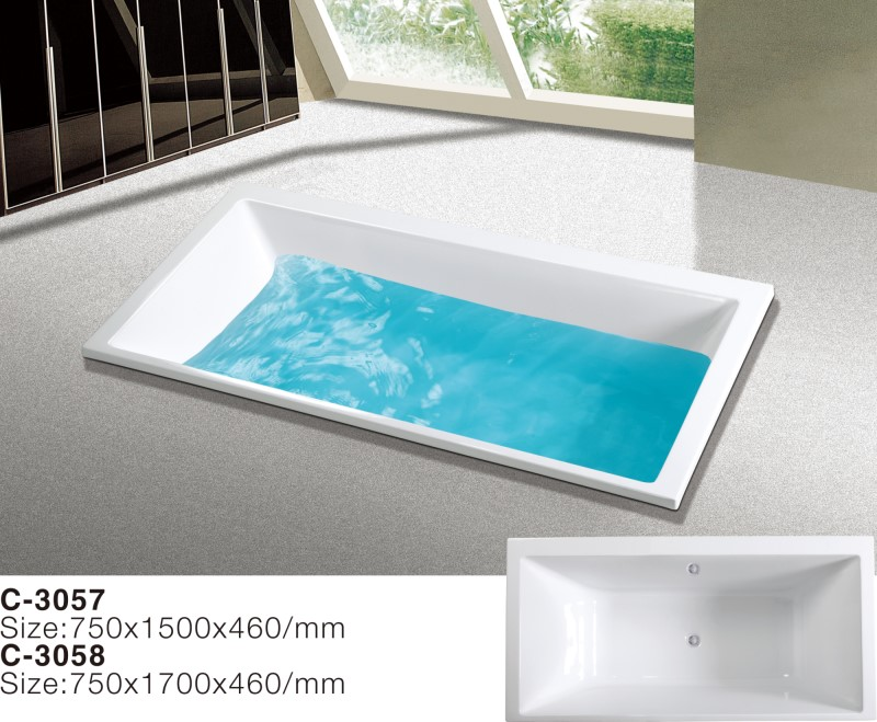 (3) MEC3057-Double Ended Slipper Center Drain Acrylic Rectangle Soaking Drop-in Bathtub_副本.jpg