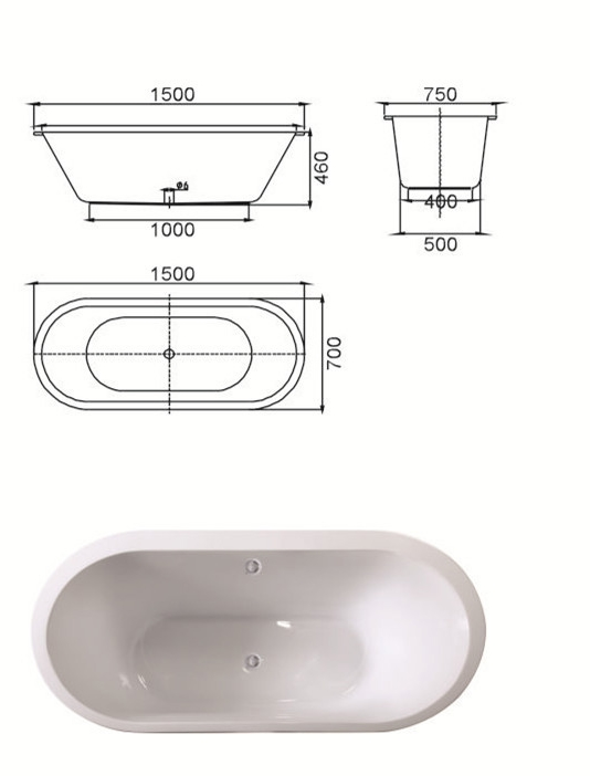 (2) MEC3059--Classical Oval Design Indoor Acrylic Drop-in Soaking Tub with Two Sizes.jpg