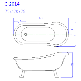 (2) MEC-2014- Extra Deep European Style Freestanding Bathtub with Chrome Clawfoot.png
