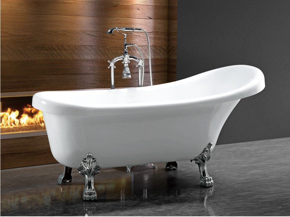 (3) MEC-2014- Extra Deep European Style Freestanding Bathtub with Chrome Clawfoot_副本.jpg