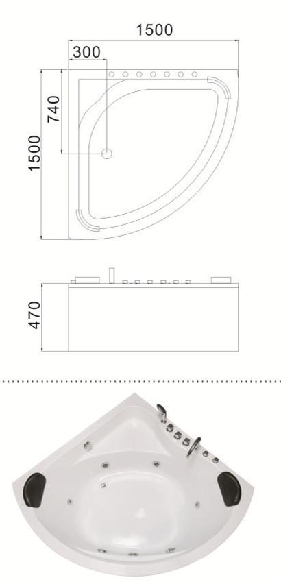 (1)C-064-X-Corner Sector Drop In Solid Surface Hydro Massage Acrylic Bath Tub.jpg