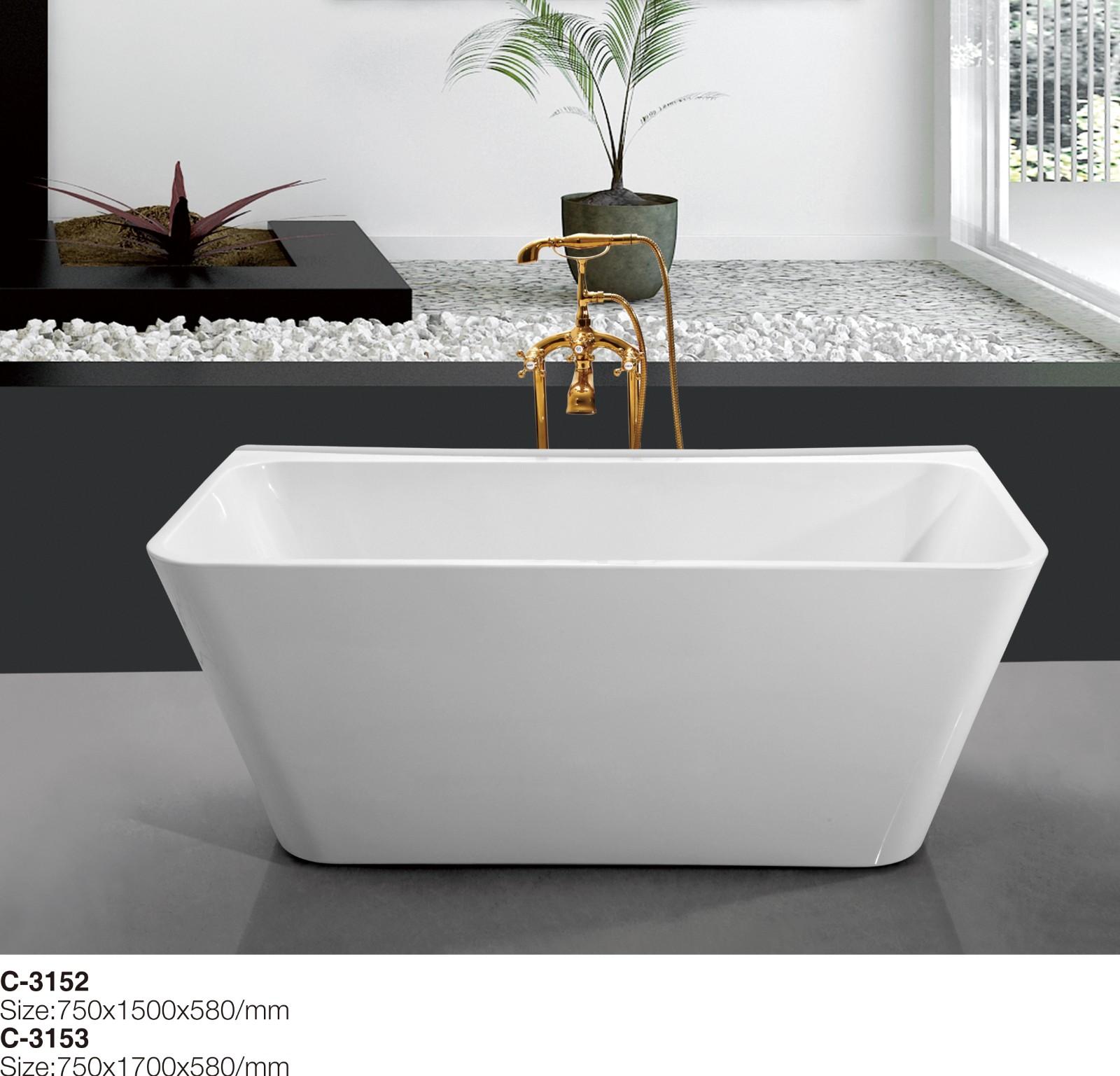(1)C-3152 C-3153--Double Slipped Rectangular Stand Alone Acrylic Bathtub, White 67.jpg