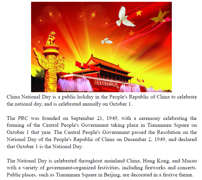 Happy China National Day